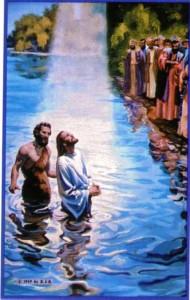 Publico viendo el Bautizo de Jesús