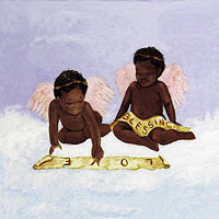Dos ángeles en las nubes
