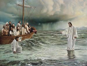 Imágenes de Jesús en la barca