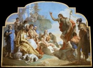 Juan el bautista predicando la venida de Jesucristo