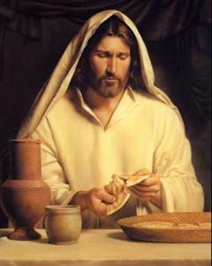 Jesús partiendo el pan