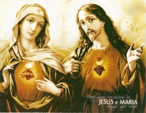Imágenes de Jesús y María