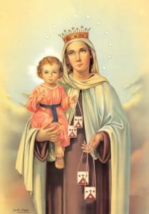 Imágenes de escapularios de la Virgen María