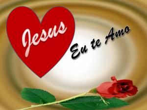 Imágenes con frases de te amo Jesús