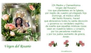 Imágenes de la virgen del rosario