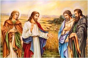 Jesús con sus apóstoles más queridos