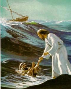 Jesús y Pedro sobre las aguas
