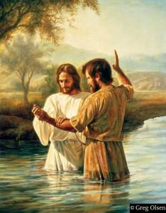 Juan el Bautista con Jesús