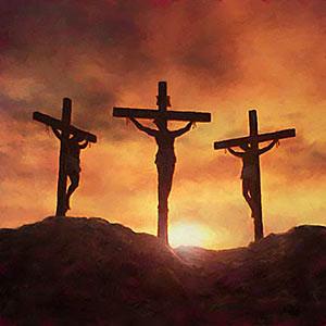 Nuestro Señor Jesucristo junto con los dos ladrones
