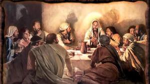 Imágenes de los apóstoles en la cena