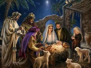 Jesús en su pecebre