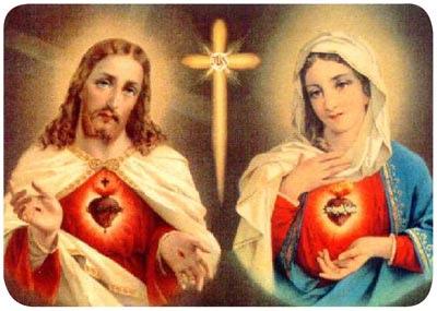 Corazón de Jesús y Corazón de María