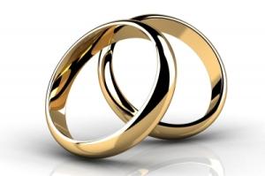 Imágenes de aniversario de anillos de oro