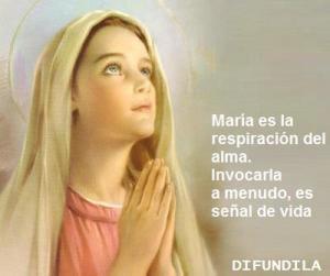 Imágenes con frases para virgen María