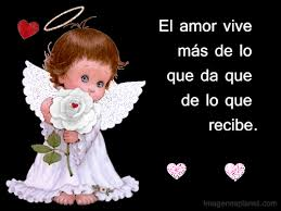 Imágenes de ángeles con frases de amor